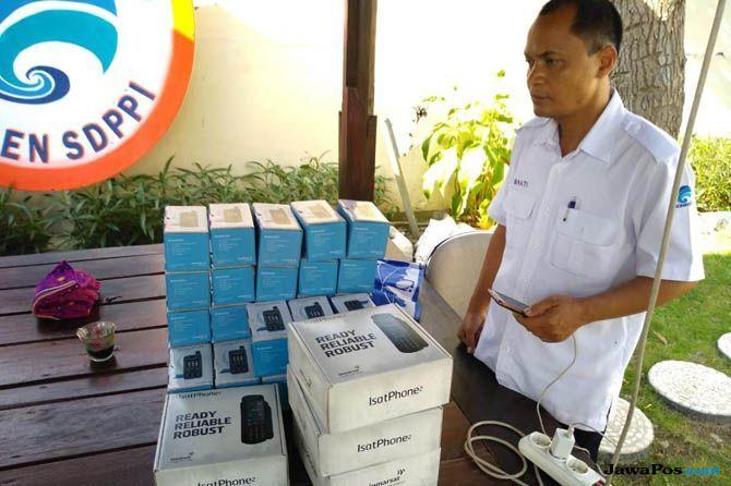 gempa lombok, telekomunikasi lombok, telepon satelit