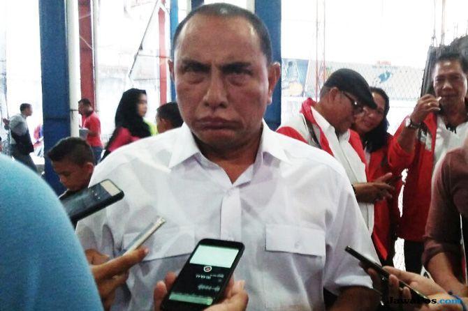 Edy Rahmayadi, Ketum PSSI, PSSI, Gubernur Sumut