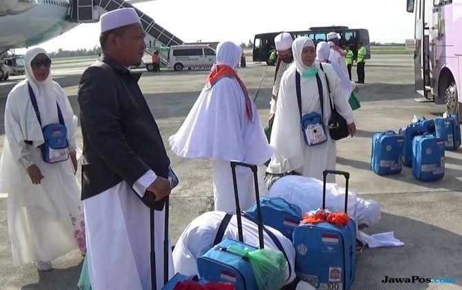Kloter Pertama Medan Tiba di Kualanamu, 1 Jamaah Meninggal