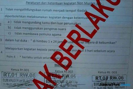Larangan Beribadah di Tangerang Hoax