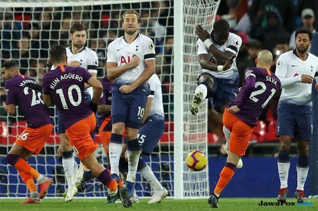 Premier league 2018-2019, Liga Inggris, Tottenham Hotspur, Manchester City, Tottenham Hotspur 0-1 Manchester City