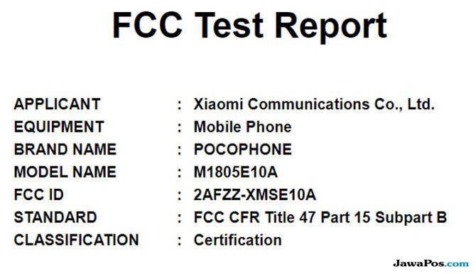 Xiaomi Pocphone, Pocphone Xiaomi, spesifikasi Xiaomi Pocphone