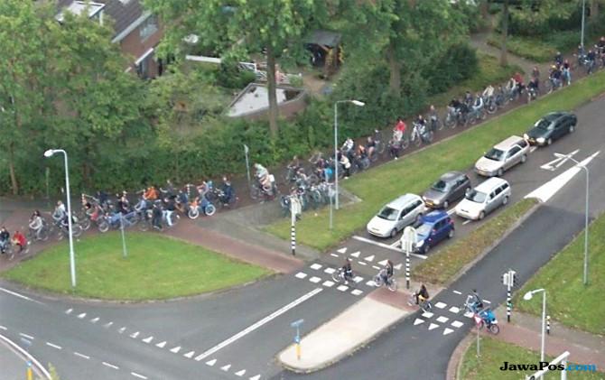 Menikmati Macet Sepeda di Wageningen, Belanda