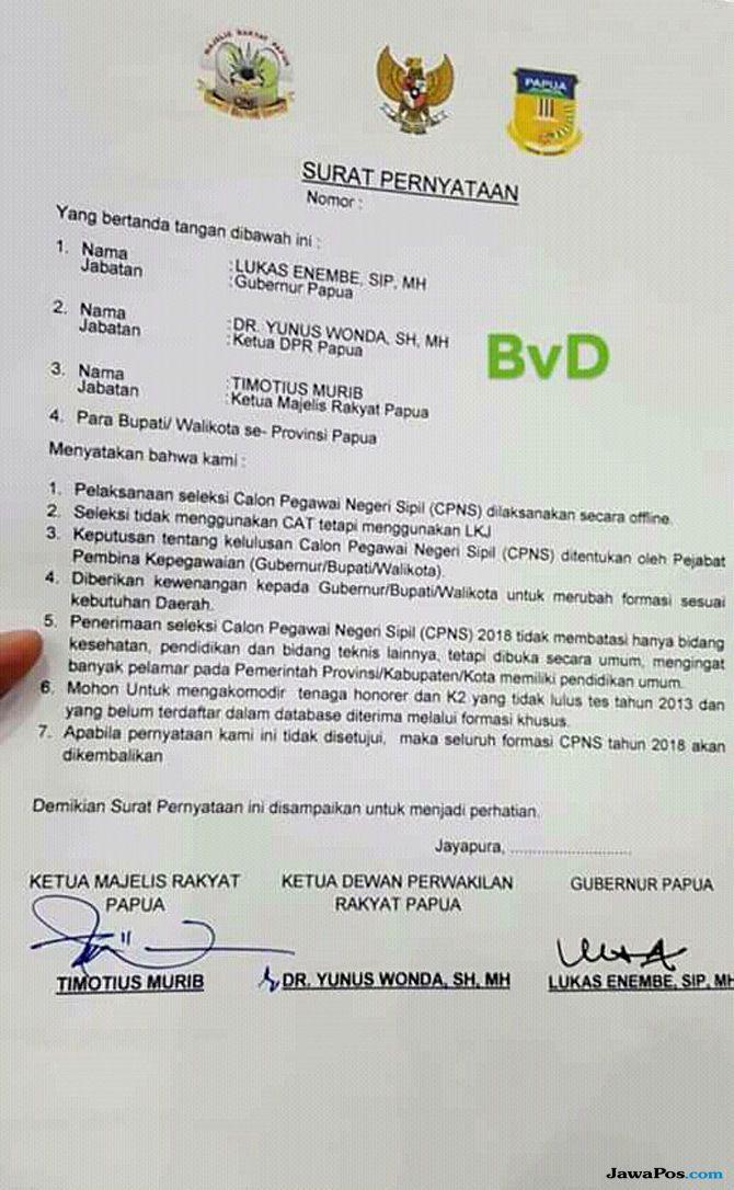 Menteri PANRB Minta Gubernur Papua Patuhi Aturan Seleksi CPNS 2018