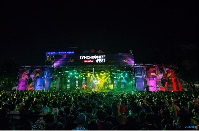 Meriahnya 3 Hari Rayakan Musik di Synchronize Festival