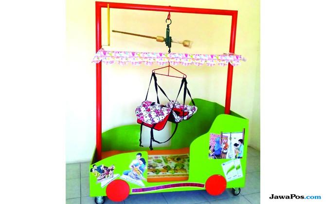 Mobil-mobilan Timbangan Bayi, Hasil Inovasi Puskesmas Tarik