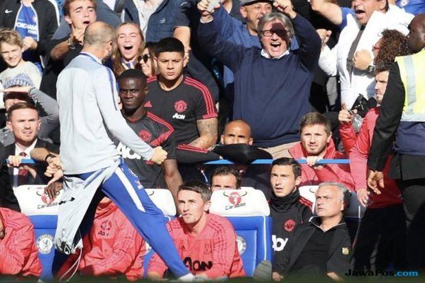 premier league 2018-2019, Liga Inggris, Chelsea, Manchester United, Chelsea 2-2 Manchester United