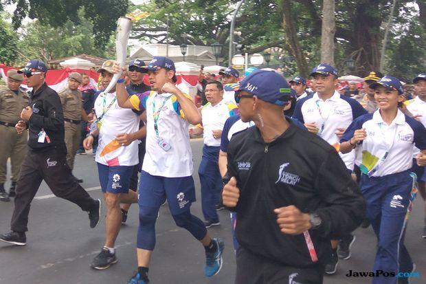 Asian Games 2018, obor asian games, arak-arakan obor asian games, torch relay, api abadi asian games, bima arya, Bogor