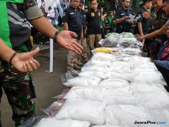 Pakai Blender, Polisi Musnahkan Narkoba Senilai Rp 30 Miliar