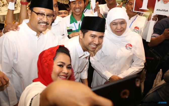 Pendukung Jokowi di Jatim Jatuhkan Pilihannya ke Khofifah-Emil