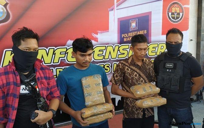 Polrestabes Makassar Gagalkan Peredaran Ganja 5 Kg Dari Medan