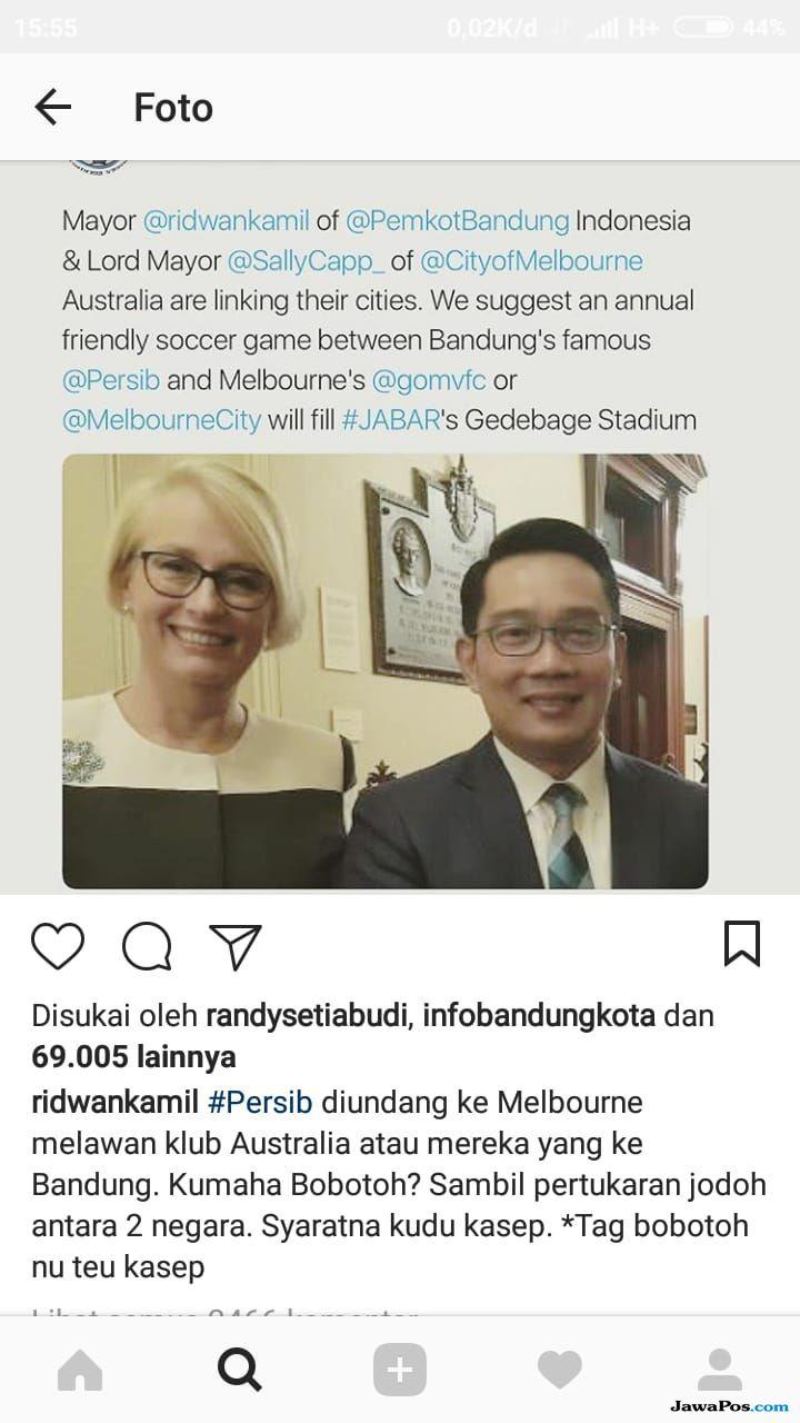 Ridwan Kamil: Persib Bandung Diundang Tanding Ke Australia