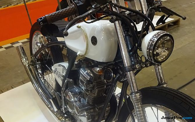 Rombak Yamaha Scorpio Jadi Motor Balap Jadul
