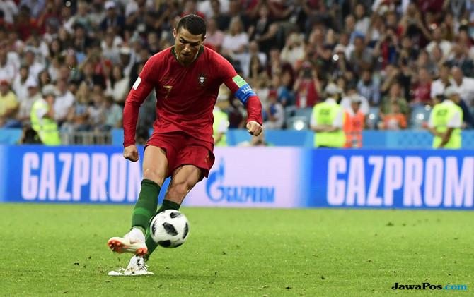 Cristiano Ronaldo, Timnas Portugal, Timnas Spanyol, Piala Dunia 2018, Ukir Rekor