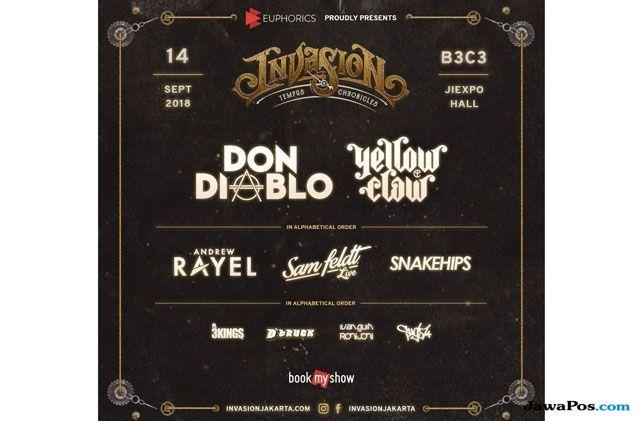 Sayang Dilewatkan, Invasion 2018 Hadirkan DJ Kenamaan Dunia