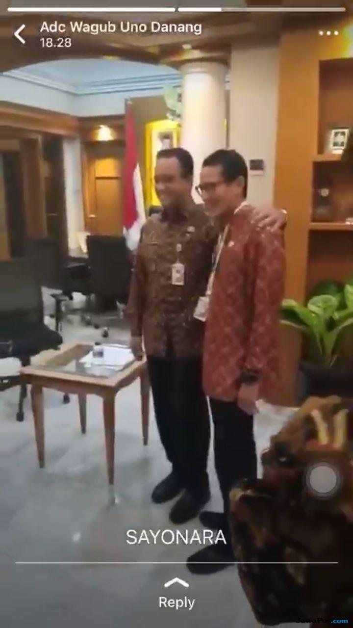 Sayonara, Pelukan Hangat Anies-Sandi Jelang Deklarasi