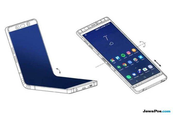 Samsung Galaxy F, Samsung Smartphone Lipat, Samsung Galaxy F harga