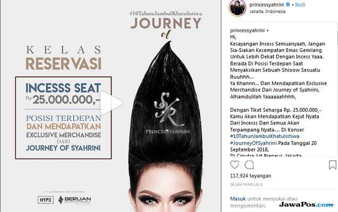 Tiket Mahal Konser Syahrini Ludes Diborong Bangsawan Kerajaan di Malaysia
