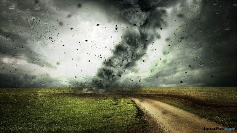tornado, hujan es, australia,