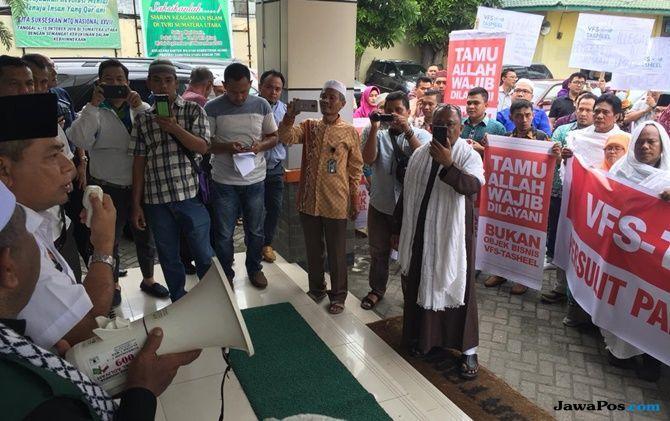 VFS-Tasheel Bebani Jemaah, Pengusaha Umroh Geruduk Kanwil Kemenag