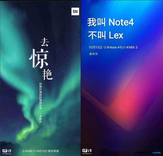 Xiaomi Indonesia, Xiaomi Mi Mix 3, Xiaomi Mi Note 4