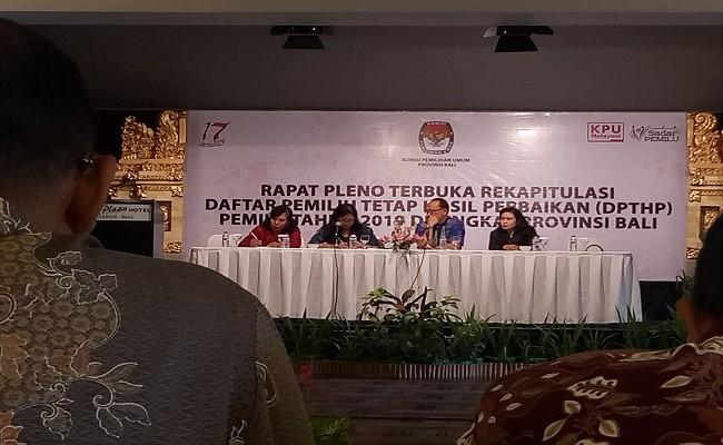 DPTHP, KPU Bali, pemilih Bali, Pemilu 2019