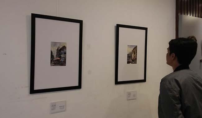 pameran lukisan, kaler sutama, pameran tunggal, plaza renon