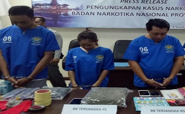 ganja hampir sekilo, remaja cantik narkoba, BNNP Bali, Terancam Bui, PN Denpasar, Kejari Denpasar,