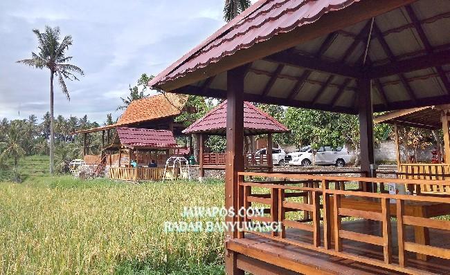 TEPI SAWAH: Warung Kemarang menjadi Destinasi wisata kuliner di Banyuwangi.