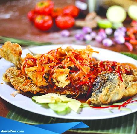 LEZAT: Beragam pilihan menu seafood sangat pas untuk suguhan segala acara.