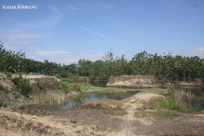 TERUS DIGALI: Puluhan hektare lahan di Desa Gumulan, Kecamatan Kesamben, Kabupaten Jombang terus dikeruk.