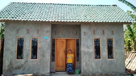 Salah satu rumah hasil realisasi program BSPS