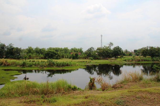 Kolam bekas galian C di Desa Gumulan, Kecamatan Kesamben, lokasi tewasnya santri PP Darul Ulum Kepuhdoko
