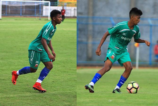 TEMAN SEKAMAR: Dua pesepak bola asal Tulehu, Maluku, M. Rifad Marasabessy dan Irsan Rahman Lestaluhu. Keduanya menjadi rekan setim di Madura United.