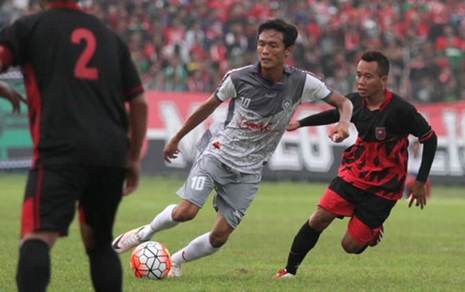PMSP saat menjamu Persiba Bantul di Stadion Gajah Mada Mojosari, Mojokerto.