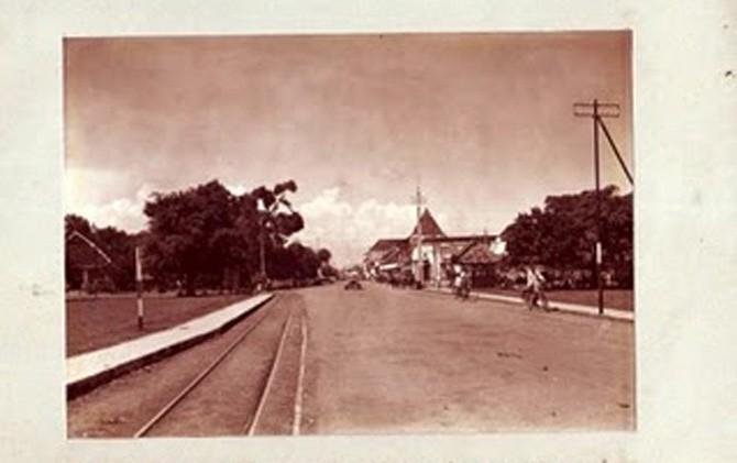 Salah satu sudut Kota Mojokerto tempo dulu.