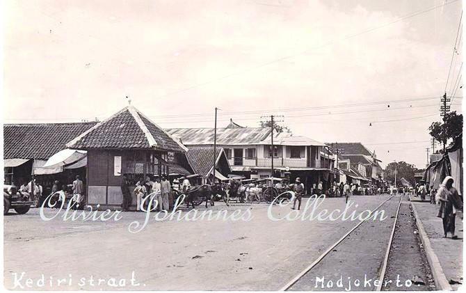Kediri Streat menadi cikal bakal Jalan Majapahit Kota Mojokerto.