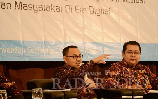 Cagub Sudirman Said dialog dengan anggota Apinda di Semarang, Selasa (10/4).