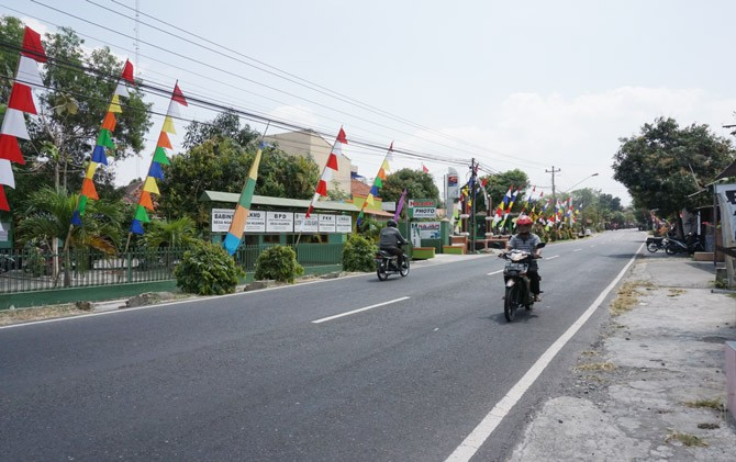 Ruas Jalan Klaten-Jatinom.