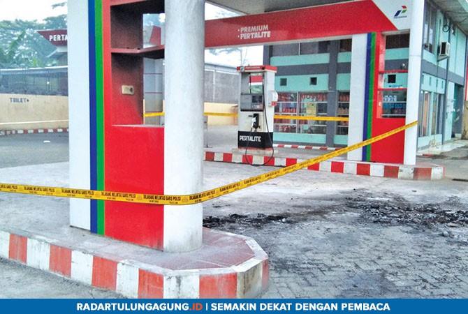 SEPI: Hingga kemarin tidak ada aktivitas pengisian bahan bakar di SPBU Prigi lantaran masih terpasang garis polisi.