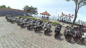80 Riders Honda PCX Libas Jalur Wisata Bali Timur