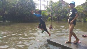 Beberapa Sekolah di Denpasar Terendam Banjir