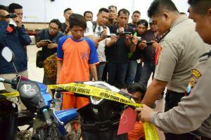 Pelaku Curanmor Spesialis Teras Rumah Dibekuk Polres Jombang