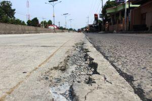 Baru Dibangun, Jalan Cor Proyek Kementerian PUPR Sudah Rusak