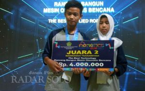 Dua Siswa SMP Ciptakan ATM Sembako,Cegah Rebutan Bantuan Bencana