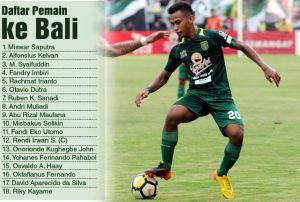Persebaya Bawa 18 Pemain Ini ke Bali