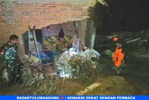 Diterjang Lumpur dan Batu, Tembok Rumah Ambrol