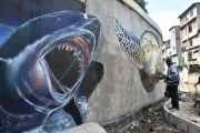 Setiap Hari, Yoga Melukis Mural 3D selama 15 Jam di Tukad Badung