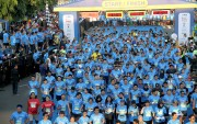 Seru, Ribuan Pelari Ikuti Relay Marathon Bersama Legenda Bulutangkis
