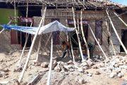 Kodam Kebut Perbaiki Rumah Korban Gempa